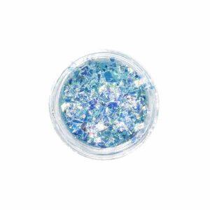 """Нейл арт ефект """"Счупено стъкло"""" – светло синьо"""