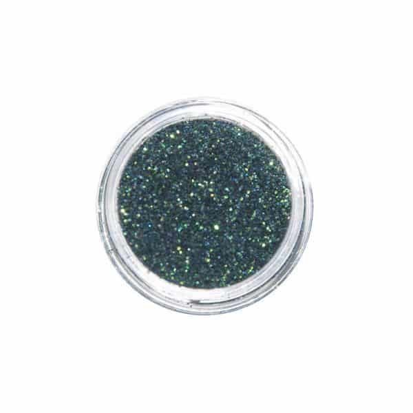 Juliana Nails Nail Art Glitter Mega Shine Fine Dunkelgrün-Irisierend
