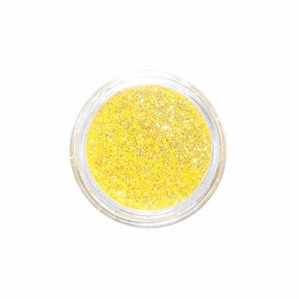 Juliana Nails Nail Art Glitter Mega Shine Fine Gelb
