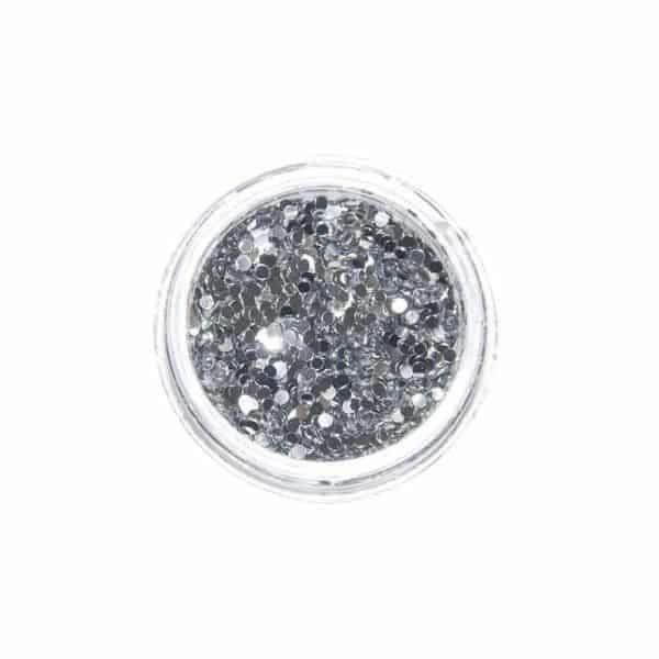 Juliana Nails Nail Art Glitter Motiv Rund Silber S