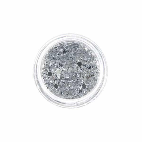 Juliana Nails Nail Art Glitter Motiv Schneeflocke Silber