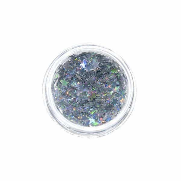 Juliana Nails Nail Art Glitter Motiv Stern Silber