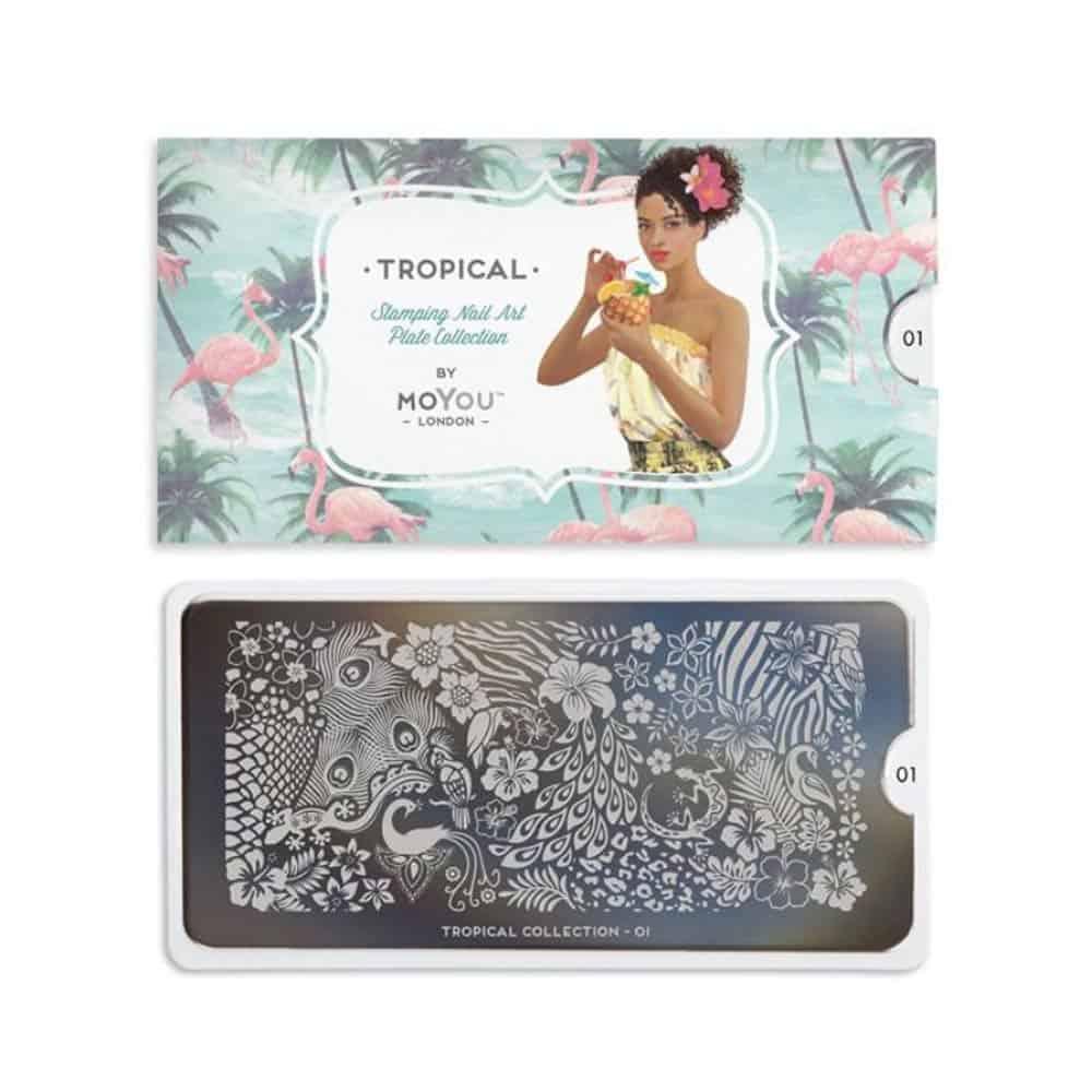 Juliana Nails Stamping Schablone MoYou Tropical 01