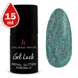 Гел лак Royal Glitter Emerald 15ml
