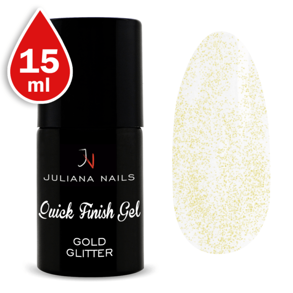 Quick Finish Gel Gold Glitter 15ml